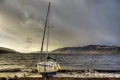 Loch Ness, Dores, Highland, Scotland, UK (Janusz W.) Tags: scotland sky scozia schottland scotia szkocja loch lochness dores pentaxk3 landscape clouds mountain water highland