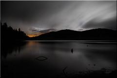 Lac des Pises (*Chantal) Tags: parcnationaldescévennes massifdulingas lacdespises lacartificiel dourbies gard occitanie france poselongue nuit eau octobre longexposure night lake sky ciel nuages clouds