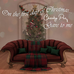 On the first day of Christmas (Isla Gealach / Cheeky Pea) Tags: secondlife secondlifehome cheekypea christmas winter twelvedaysofchristmas
