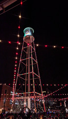 the tower is lit (npdoty) Tags: durham tower luckystrike christmas lights