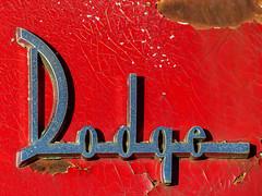 Dodge Seneca Hood Ornament (J Wells S) Tags: dodge dodgeseneca hoodornament rust rusty crusty abandoned chrome junk pealingpaint norwood cincinnati ohio logo emblem sign