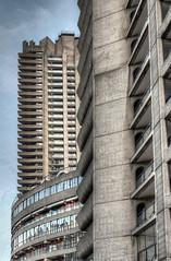Three Barbican Blocks (Mark Seton) Tags: brutalist thebarbican tower towerblock estate concrete block london brutalism
