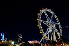 Star Observation Wheel (John Hewitt 7) Tags: luminosity7 melbourne australia melbournestarobservationwheel londoneye southernhemisphere cityviews tamronsp1530f28divcusdg2 docklands nightshot lights nikond850 night city streetview