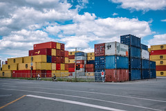 Shipping Containers (BrianEden) Tags: shippingcontainer canada industry quebec colorful montreal