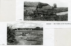 Renkum Jufferswaard bruggetje naar noordberg ca 1890 en ca 1955 Coll Fien Bos (Historisch Genootschap Redichem) Tags: renkum jufferswaard bruggetje naar noordberg ca 1890 en 1955 coll fien bos