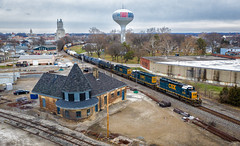 Triple your Standards (Wheelnrail) Tags: csx sd402 troy ohio oh toledo subdivision train trains railroad railway locomotive drone dji depot station