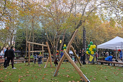 Occidental Play Space Opening (Seattle Parks & Recreation) Tags: children kids fall autumn downtown dsa play playground lawn festival celebration ribboncutting