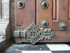 Detail of church gate indowntown Lima (Lewitus) Tags: church lima detailwood decoration