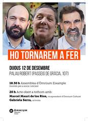 CARTELL_HTF_EIXAMPLE (Òmnium Eixample) Tags: ago òmniumeixample omnium omniumeixample assemblea 2019 12122019 eixample barcelona palau robert