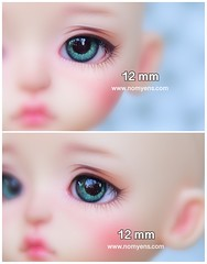 Hazel Green / 12 mm. (♥..Nomyens..♥) Tags: bjd balljointdoll toy doll custom faceup paint painting painted repaint handmade nomyens nomyenscom dolleye bjdeye