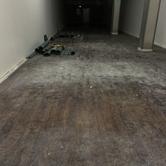 dusty store (badtweetgirl) Tags: minimal space empty dark diy renovation construction dirt dust dusty inside interior store shop