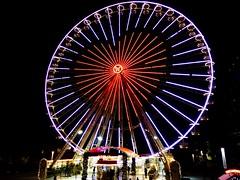 Ferris wheel with heart (Christa_P) Tags: ferriswheel lightanddark smileonsaturday germany essen heart christmasmarket weihnachtsmarkt nrw herz riesenrad