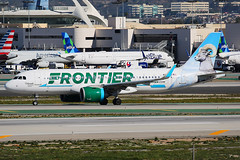 Frontier Airlines Airbus A320-271N N323FR (Mark Harris photography) Tags: spotting klax la canon 5d plane
