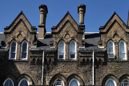 Gothic Revival symmetry - Knox College, Smith & Gemmel, 1875 - Harbord Village, Toronto.