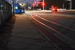 Things around the city (Andrew Penney Photography) Tags: downtownokc scissortailpark okc park downtown 405 night nighttime lights buildings art scissortail oklahomacity sugarplumpromenade streetcar