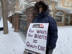 Healthcare Workers Rally for a Fair Contract (livingsanctuary) Tags: aupe edmonton ableg yeg healthcare albertaunionofprovincialemployees