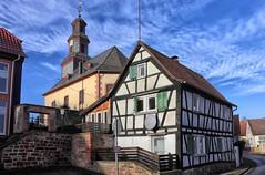 Höchst an der Nidder Kirche (wernerfunk) Tags: church fachwerk village dorf hessen wetterau