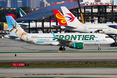 Frontier Airlines Airbus A320 -232 N233FR (Mark Harris photography) Tags: spotting klax la canon 5d plane