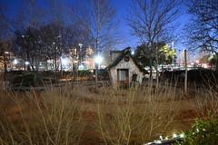 Myriad Gardens (Andrew Penney Photography) Tags: downtownokc scissortailpark okc park downtown 405 night nighttime lights buildings art scissortail oklahomacity sugarplumpromenade