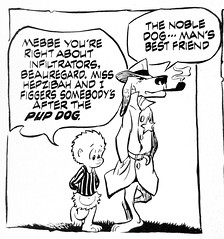 Pogo and Beauregard Bugleboy As Dick Tracy Panel ONE 2149 (Brechtbug) Tags: beauregard bugleboy as dick tracy detective with pogo walt kelly cartoon vintage 1960s 60s possum albert alligator churchy la femme turtle newspaper comic strip comics sunday funnies comicstrip opossum animal humor funny beast fable political satire witty southern okefenokee swamp critters south holiday halloween