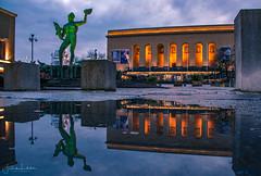 Gothenburg Poseidon (Fredrik Lindedal) Tags: poseidon avenyn gothenburg göteborg reflection reflections puddle puddlegram streetview str streetvision streetart statue lindedal sweden sverige