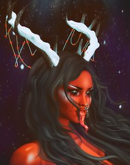 Christmas with the Devil (marduklust resident) Tags: sl avatar second life dae fangs iconic unstable winter hollow
