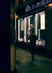 Neon Night (Mechanized) Tags: paris street neon lights people sidewalk shadows silhouette x100f