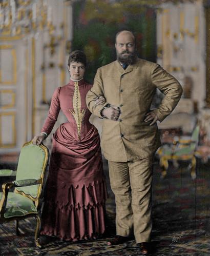 Emperor Alexander III and Empress Maria Feodorovna (1884)