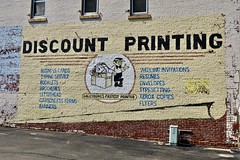 Discount Printing, Galesburg, IL (Robby Virus) Tags: galesburg illinois il painted ad advertisement fastest printer discount printing sign signage