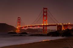 Golden Gate (Ross Forsyth - tigerfastimagery) Tags: california goldengatebridge goldengate sanfrancisco bridge dark beach longexposure dusk bakerbeach landscape scenery usa northamerica