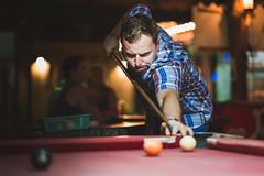 Passion (art.krajewski) Tags: billiard tonsai beach resort thailand krabi freetime play red table friend fujifilm fujilove f12 xf56mm saturday night holidays flickr bokeh photography portrait polishboy