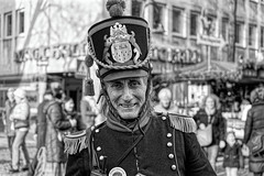 THE MASTER OF THE CHRISTMAS MARKET (NorbertPeter) Tags: man street people portrait spontaneous sony ilce7 cologne köln germany urban city outdoor marketmaster costume christmastime christmasmarket hat historical monochrome streetphotography streetportrait bw blackandwhite