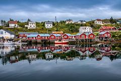 Fishing Cabins (Ma.Ha.) Tags: sørvågen nordland norway fishing cabins cabin blue sky sea water