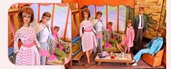 'LOVE YOUR OUTFIT!' (ModBarbieLover) Tags: 1966 barbie doll allan midge skipper swirl ag mattel vintage 1964 garden wedding fashion toy dreamhouse pink white lace titian redheads