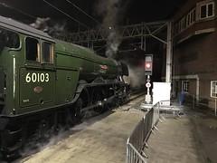 "Flying Scotsman 14th December 2019 (Flikrman Gaz) Tags: night railway train steam ""flyingscotsman"""