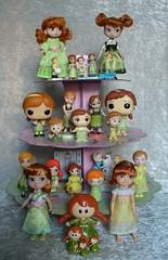 My Baby Anna collection! (redmermaidwerewolf) Tags: disney frozen anna elsa toy figure 2 ii baby child doll figurine mystery mini kinder egg joy funko pop hasbro ornament