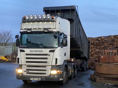 """YJ57FBN Scania tipping discs and drums (Mark Schofield @ JB Schofield) Tags: road transport haulage freight truck wagon lorry commercial vehicle hgv lgv haulier contractor scrap scrapyard yard metal processor merchant cast iron schofield linthwaite huddersfield """"jb schofield"""" """"metal merchants"""" recyclers recycling recyclers"""" steel copper """"schofield huddersfield"""" hooklift hookloader scraphandler sennebogen 825e 830e"""