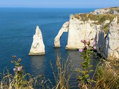 DSCN8586 (alainazer) Tags: etretat normandie femme eau acqua water mer mare sea sky ciel cielo pierres piedras pietra stones nature