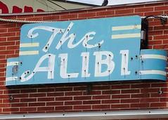 WY, Casper-U.S. 20 Alibi Bar Ghost Neon Sign