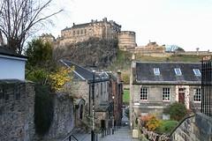 The View From The Jean Brodie Steps (crashcalloway) Tags: jeanbrodiesteps edinburgh view scotland scottish castle city cityscape theprimeofmissjeanbrodie