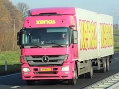 Mercedes-Benz Actros MP3 drawbar from Xenos holland. (capelleaandenijssel) Tags: 47bdp1 truck trailer lorry camion lkw netherlands nl