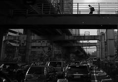 Walking > Vehicles (Blue Nozomi) Tags: manila philippines traffic walk pedestrian commute
