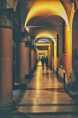portici di notte (marco monetti) Tags: porticoes portici columns colonne street strada night notte people gente persone walking camminando lights luci marble marmo reflexes riflessi