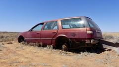 Fresh Roadkill (daj333) Tags: australia cars trucks vehicles abandoned southaustralia cooberpedy ford falcon lumix fz300 panasonic