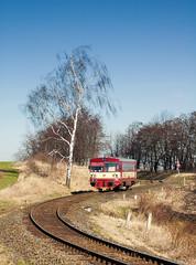 ČD 810.533-0, Os 13360, Kunín, 278 (cz.EightyFour) Tags: 810 čd vagónkastudénka m1520 kunín 278 vlak zug train 2560 qhd nikond50