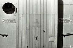 toutes les routes... (a.pierre4840) Tags: olympus om3 zuiko 28mm f2 35mmfilm ilford ilfordhp5 hp5 hp5plus bw blackandwhite noiretblanc wall shadows mirror lines perspective kowloon hongkong