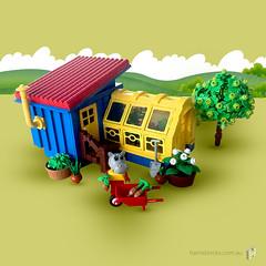 Hannah's Greenhouse (HarrisBricks) Tags: fabuland neofabuland moc legomoc lego