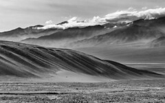 Death Valley in BW (dshoning) Tags: deathvalley mountains fog clouds bw ca