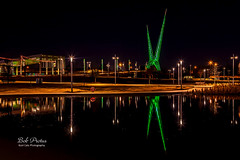 Christmas time at the park (Kool Cats Photography over 13 Million Views) Tags: nightshot reflection lights christmas christmaslights landscape luminar lake oklahoma oklahomacity outdoor photography scenic scissortailpark skydancepedestrianbridge