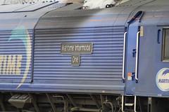 MOSSEND 66005 MARITIME INTERMODAL ONE (johnwebb292) Tags: mossend diesel class 66 66005 maritimeintermodalone dbs plaque